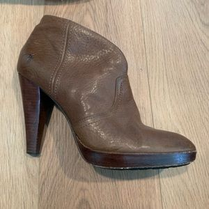 Frye heeled ankle booties